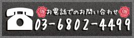 お電話でのお問い合わせ 03-6802-4499
